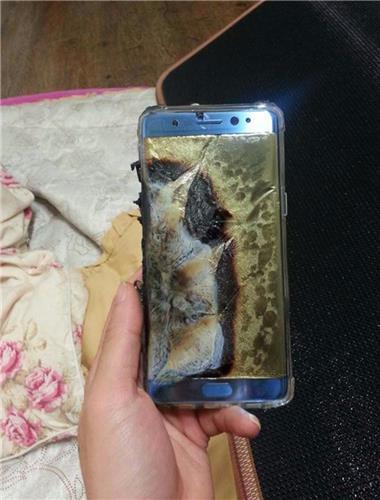 갤럭시노트7 폭발/사진=연합뉴스