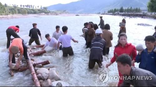북한 홍수 피해/사진=연합뉴스