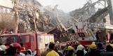 이란 테헤란서 17층 상가 화재로 붕괴…'전기 합선' 원인...