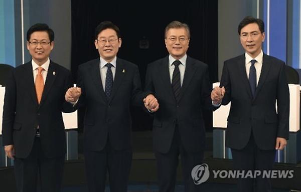 이재명 문재인 안희정 민주당 토론회 / 사진=연합뉴스