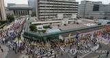 美 대사관 둘러싼 사드 반대 집회…경찰도 주최측도 갈등은 ...