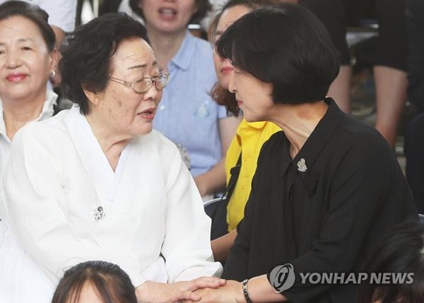 추미애 한일 위안부 합의 / 사진= 연합뉴스