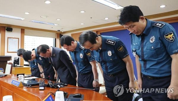 김부겸 경찰 수뇌부 대국민 사과  / 사진= 연합뉴스