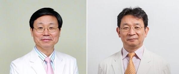 스포츠닥터스 의사회 고문으로 위촉된 김은상 교수(좌)와 김성주 교수(우)