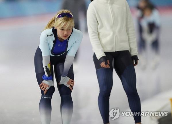 숨 고르는 김보름 / 사진=연합뉴스