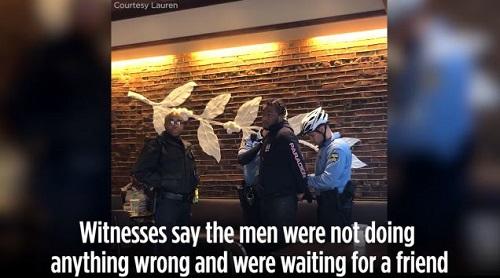 인종차별 논란 스타벅스 체포 장면 / 사진=유튜브 캡처
