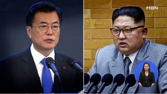 문재인 대통령과 북한 김정은 국무위원장/ 사진=MBN