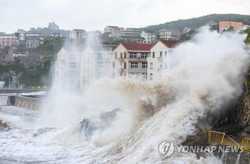 태풍 마리아가 상륙한 중국 푸젠성 연안 /사진=연합뉴스