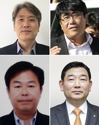 왼쪽 위부터 시계방향으로 이종훈·함철·김광성·노효동 수상자