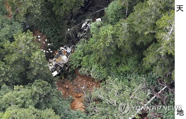 일본 군마현서 소방헬기 추락/사진=연합뉴스