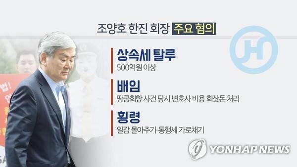 조양호 회장 주요 혐의 / 사진=연합뉴스