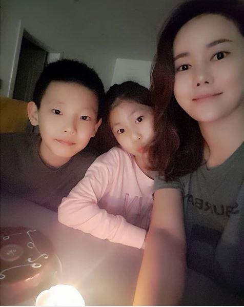 박잎선과 지아, 지욱 남매/사진=박잎선 인스타그램