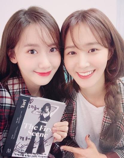소녀시대 윤아와 유리 /사진=윤아 인스타그램