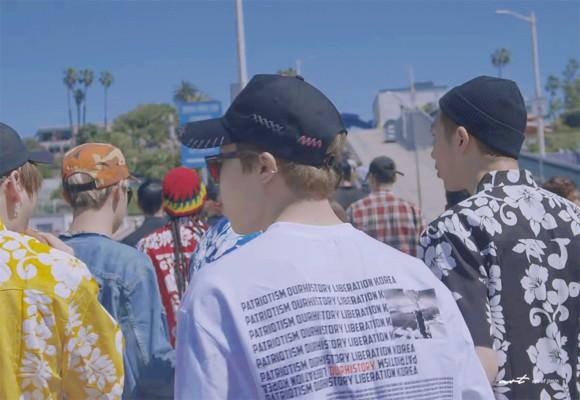 방탄소년단 지민 티셔츠 /사진=방탄소년단 유튜브 채널 캡처