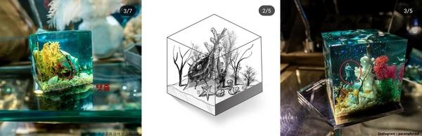 파○숲라운지에서 판매하는 아이 탯줄, 결혼기념일 바다조각/사진=파○숲라운지 공식 인스타그램