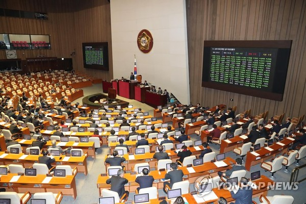 정기국회 마지막 본회의 개회/ 사진=연합뉴스
