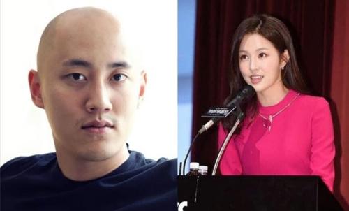 박서원 오리콤 부사장(왼쪽)과 조수애 JTBC 전 아나운서/ 사진=연합뉴스
