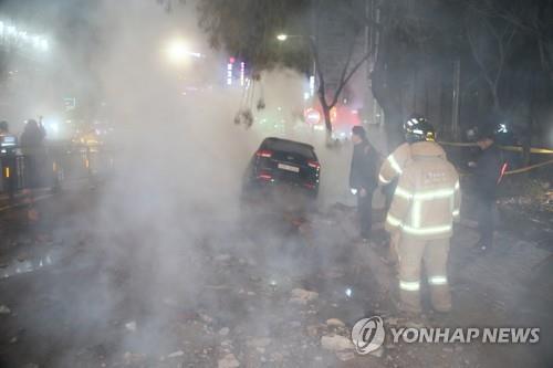 고양시 백석역 열수송관 파열사고/사진=연합뉴스