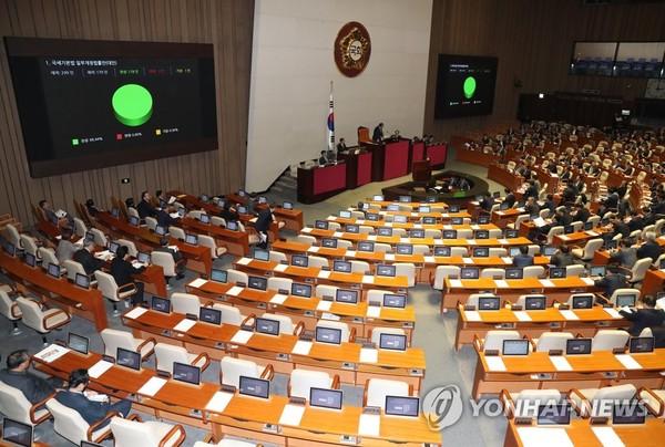 본회의장 야3당의 빈자리/사진=연합뉴스