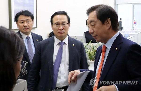 다시 만난 교섭단체 원내대표들/사진=연합뉴스