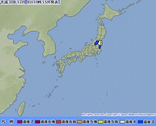 일본 지진/ 사진=일본 기상청 홈페이지 캡처