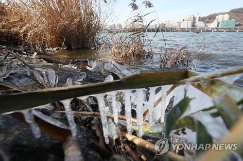 한강 얼리는 주말 한파/사진=연합뉴스