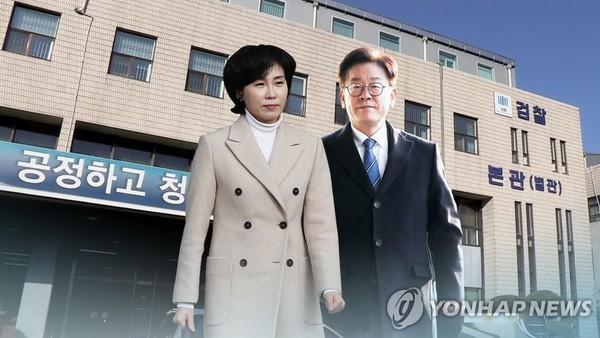 이재명 지사 부부 기소될까?…공소시효 직전 결론날 듯 (CG)/사진=연합뉴스