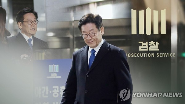 이재명 검찰 출석…'친형 강제 입원' 등 조사 (CG)/사진=연합뉴스
