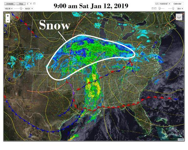 미국 눈폭풍 이동경로/사진=미국 국립기상청(NWS) 트위터