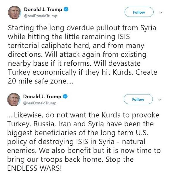 트럼프 트위터 글/사진=트럼프 트위터