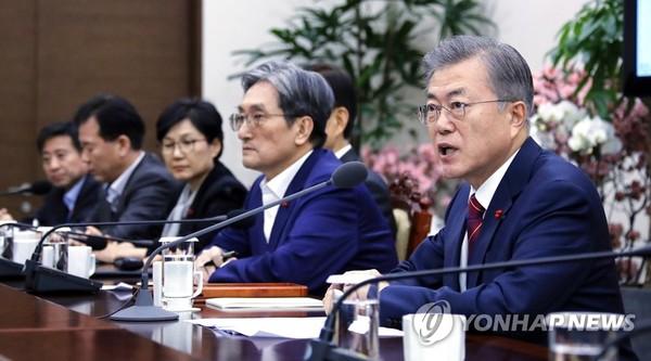 올해 첫 수석·보좌관 회의 /사진=연합뉴스