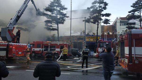 을지로 화재 진압 현장 /사진=MBN