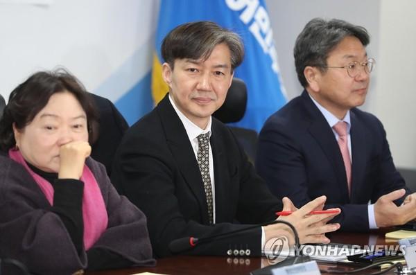 당정청 협의회 참석한 조국 민정수석 /사진=연합뉴스