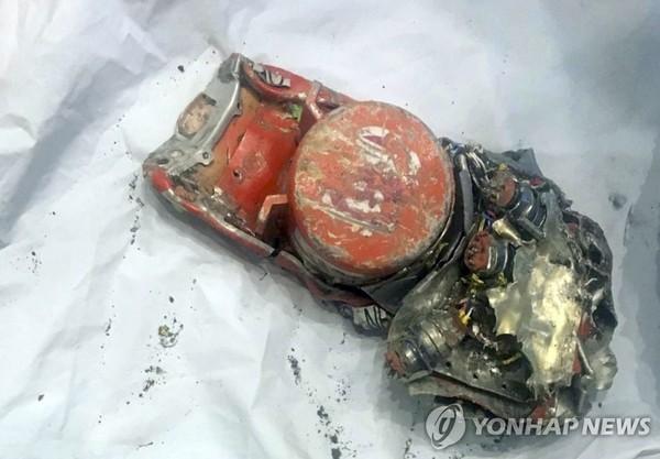추락 항공기의 비행기록장치 /사진=연합뉴스