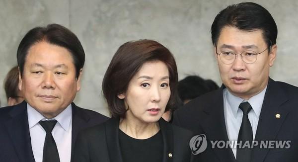 긴급의원총회 참석하는 나경원 /사진=연합뉴스