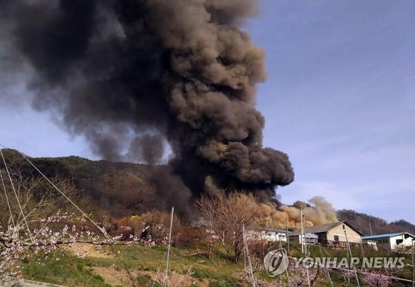 임실 돈사에서 화재 / 사진=전북소방본부 제공