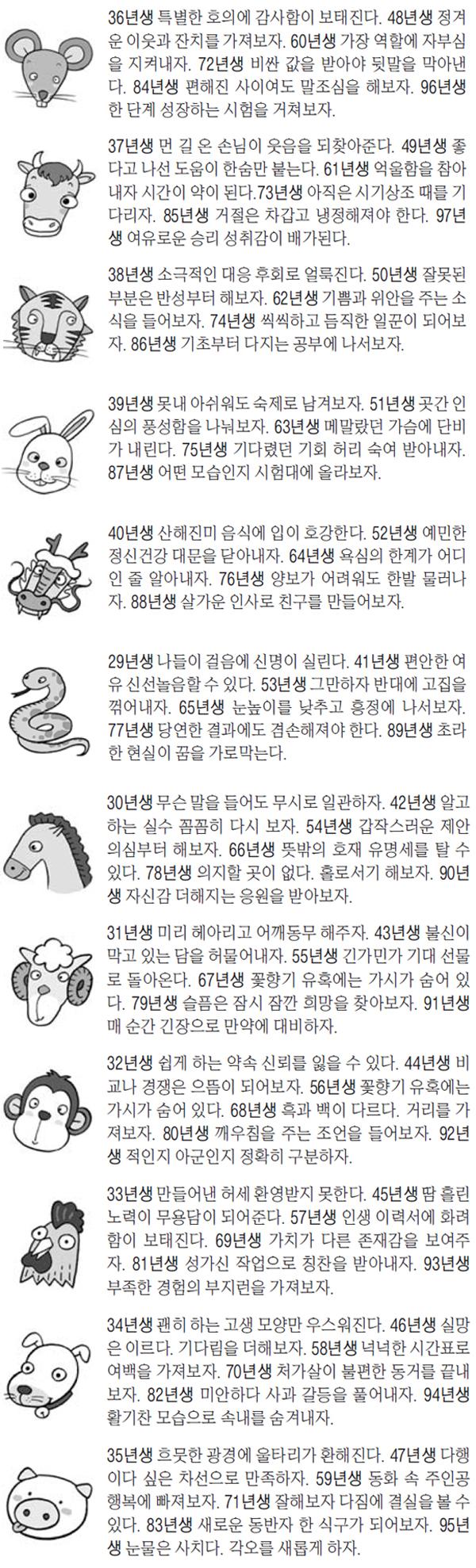 오늘의 운세 /사진=매일경제