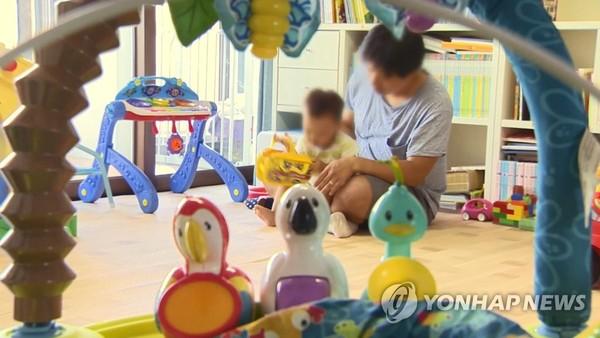 남성 직장인의 육아휴직/사진=연합뉴스