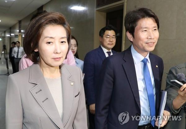 이인영과 나경원/사진=연합뉴스