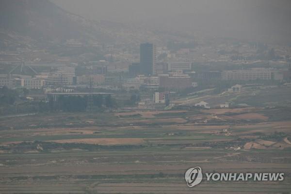 흐릿한 개성공단 /사진=연합뉴스