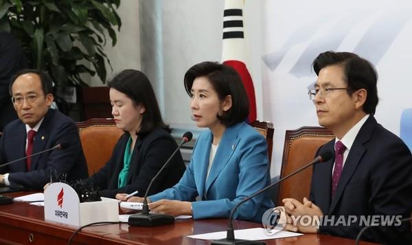 발언하는 나경원 / 사진=연합뉴스<br />