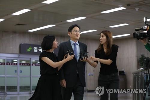 일본 출장 마친 이재용 삼성전자 부회장 /사진=연합뉴스