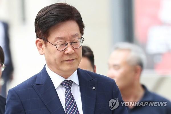 항소심 결심공판 출석하는 이재명 경기지사 / 사진=연합뉴스
