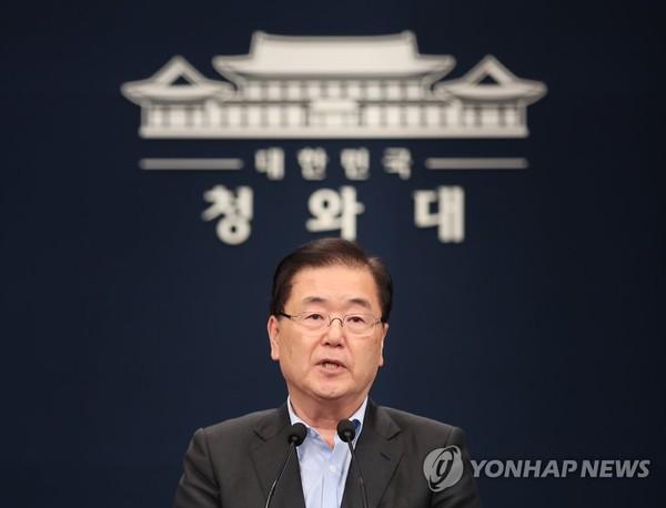 정의용 청와대 국가안보실장 / 사진=연합뉴스