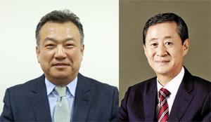 웰크론한텍 이범용 부사장 (왼쪽), 웰크론그룹 현치웅 부회장 (오른쪽)<br />