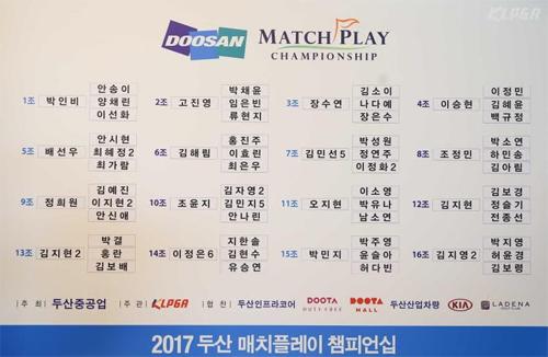 2017 두산 매치플레이 챔피언십 대진표가 확정됐다. 사진=한국여자프로골프협회 제공