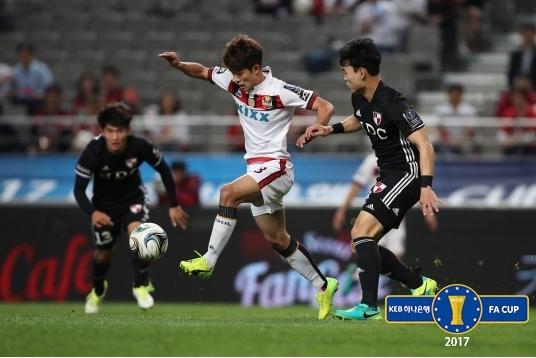부산 아이파크가 승부차기 끝에 서울을 누르고 FA컵 8강에 진출했다. 사진=대한축구협회 제공