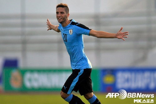 우루과이의 호드리고 벤탄쿠르는 2017 U-20 월드컵을 빛낼 최고의 선수로 평가 받는다. 지난 4월 유벤투스와 계약했다. 사진=ⓒAFPBBNews = News1
