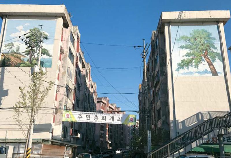 오는 16일 재건축 추진위원장 선출을 앞둔 서울 용산구 서부이촌동 중산시범아파트 전경. [용환진 기자]