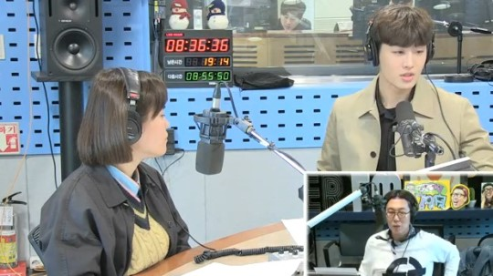 '김영철의 파워FM' 조정식 아나운서. 사진  SBS 보이는 라디오 캡처